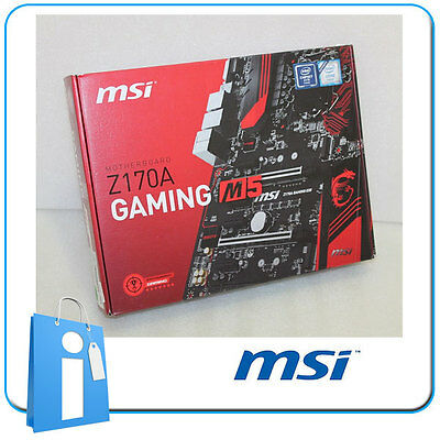 Placa base ATX Z170 MSI Z170A GAMING M5 Socket 1151 con Accesorios