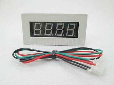 New 4 Digital Blue LED Tachometer RPM Speed Meter 5-9999RPM 12V White Case