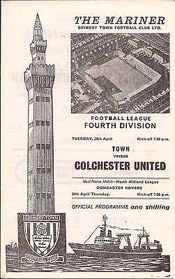 Grimsby Town v Colchester United - Div 4 - 1970 - Football Programme
