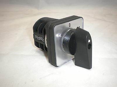 ROTARY SWITCH 10 A 2 POLE PANEL Selector CHANGEOVER 3 POSITION CONTROL CO102