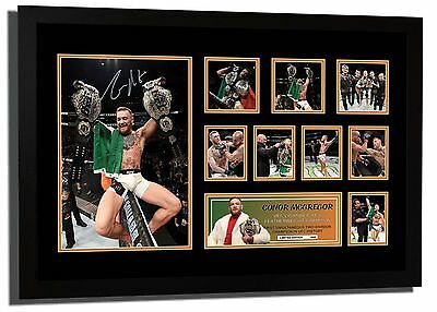 New Conor Mcgregor Ufc 2 Division Champ Notorious Signed Le Framed Memorabilia