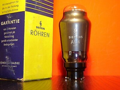 1x SIEMENS AL4 RÖHRE NEU IN OVP/ NEW OLD STOCK IN BOX TUBE