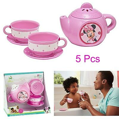 Bath Toys for Baby Girls Disney Minnie Mouse TEA SET Tab Toddler Toy Teapot Cups