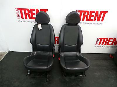 2004 SMART FORFOUR Front & Rear Seats Black Leather Interior