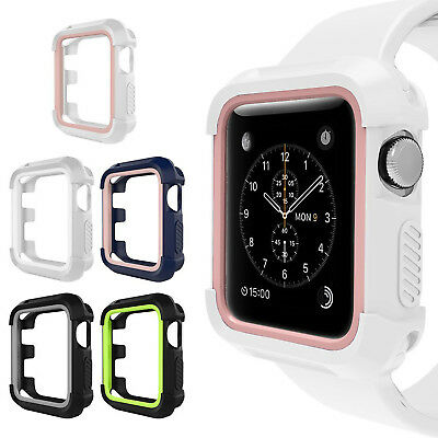 Apple Watch Rugged Protective Cover Bumper Case Protector iWatch 38mm 42mm 5 Pcs