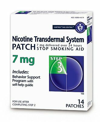 Habitrol Nicotine Transdermal System Stop Smoking Aid, Step 3, 7 mg, 14 Patches