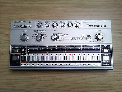 Analogue Roland Tr-606 Drumatix Drum Machine & Power Supply 707 808 909