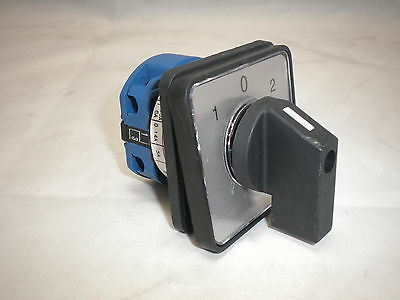 ROTARY SWITCH 20 A 1 POLE PANEL Selector CHANGEOVER 3 POSITION CONTROL CO201