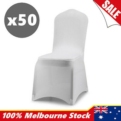 Lycra Spandex Stretch Chair Cover Wedding Party White Event Banquet 50 OZ