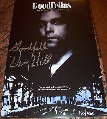 Goodfellas Henry Hill Signed Mini Poster W/proof
