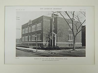 School of Our Lady of Hope, Springfield, MA, 1919, Lithograph