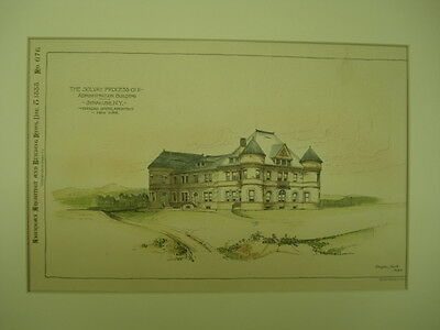 The Solvay Process Co. Administration Building, Syracuse, NY, 1888, Orig. Plan