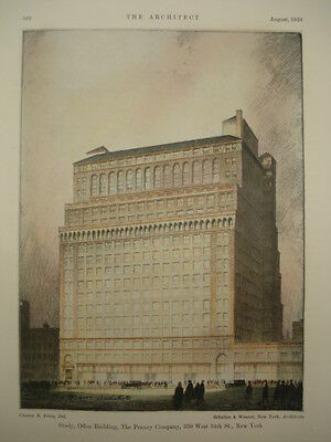 Office Building, The Penney Company, New York, NY, 1926, Original Plan