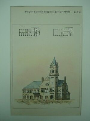 City Hall, Kearney, Nebraska, 1888, Original Plan