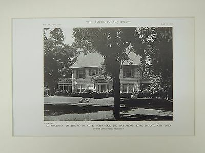 Alterations to House of O. L. Schwenke, Bay Shore, NY, 1919, Lithograph