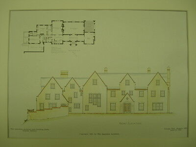 House for W. S. Patten, Carver Hill, South Natick, MA, 1907, Original Plan