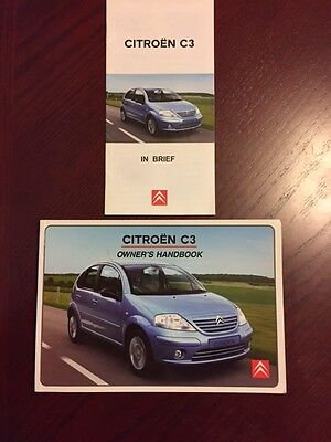 CITROEN C3 HANDBOOK + BRIEF GUIDE years 2002    2007