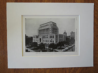 Caddo Parish Court House, Shreveport, LA, Edward F. Neild, 1929, Lithograph