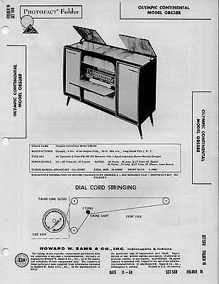 continental fm radio photofact bull picclick 1960 olympic continental gbs388 phono radio service manual photofact schematic