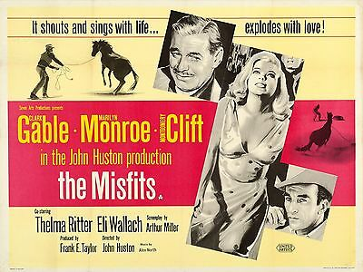 """The Misfits 16"""" x 12"""" Reproduction Movie Poster Photograph"""