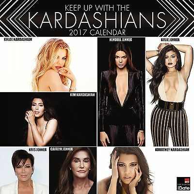 Keep up with the Kardashians Calendar 2017 with free pull out poster