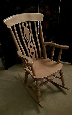 Rocking chair/Beech/Fiddleback