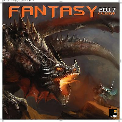 Fantasy Dragon Art Calendar 2017 with free pull out planner
