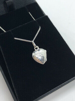Christening Present Gift Real Solid Silver Locket + Chain Confirmation Boxed 925