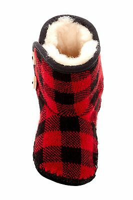 Ugg Australia Kids Baby Size 2/3 6-12 Months Black Red  Booties
