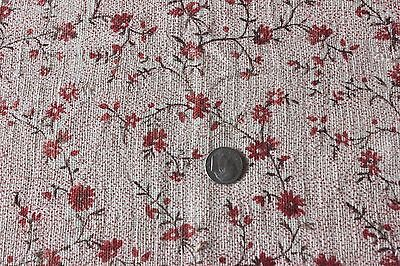 Country French Antique Doll Scale 18thC Blocked Printed Linen Fabric~Collectors