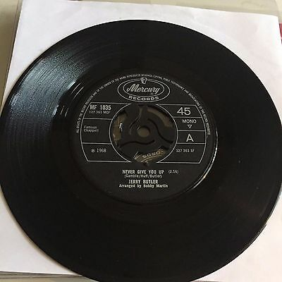 Jerry Butler, Never Give You Up / Beside You on Mercury    60s Soul.