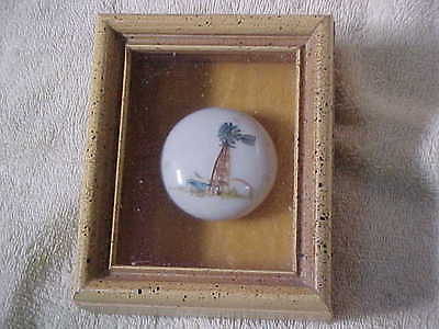Antique Door Knob Hand Painted --Framed-Windmill --Well Done-Free Shipping