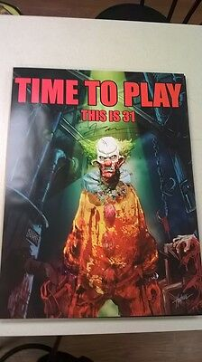 31 TIME TO PLAY poster, signed by rob zombie, movie 31