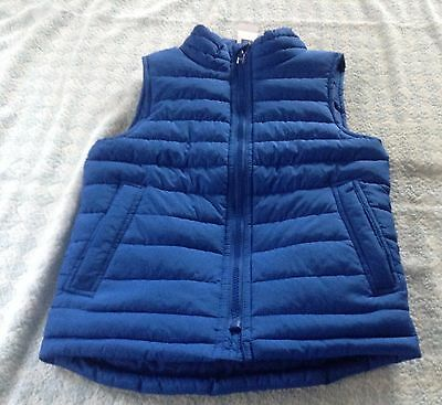 boy/girl genuine gap blue quilted gilet jacket 4-5 / 8-9 years new tag gift idea