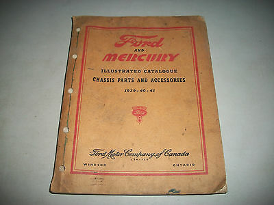 1939 1940 1941 Ford Mercury Cars & Trucks Illustrated Chassis Parts Catalog