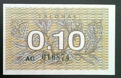 Lithuania banknote _ very small note _ unc