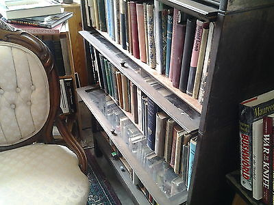 """Barrister Bookcase 3 stack 331/2 """" tall , 33 1/2 """" wide, shelves 9 1/4 """" deep"""