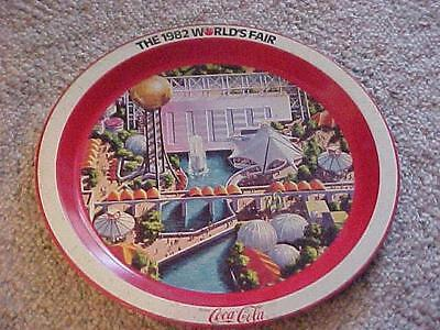 Coca-Cola Serving Tray. from 1982 World's Fair(Knoxville)..some spotting -292