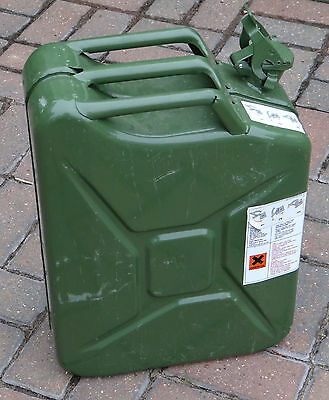 GELG 20 Litre Jerry Can Steel, Green. fully certified for fuel
