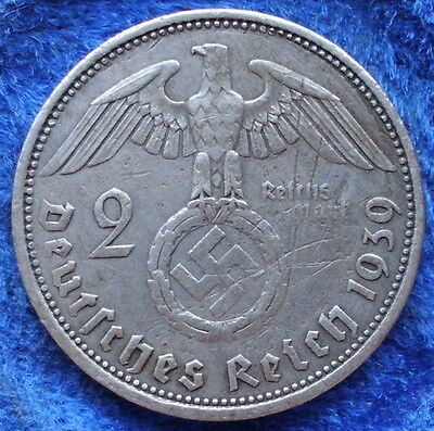 GERMANY - silver 2 reichsmark 1939A KM# 93 III Reich (1933-45) - Edelweiss Coins