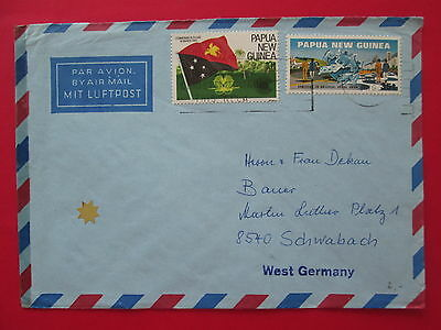 PAPUA NEW GUINEA cover slogan cancel 1983 stamps to germany