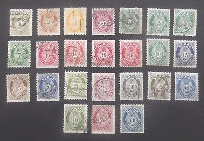 Norway-1894/1895-Lovely collection-Used