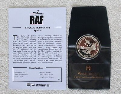 2007 History of the RAF - Battle of Britain Memorial Flight Silver £5 Five Pound