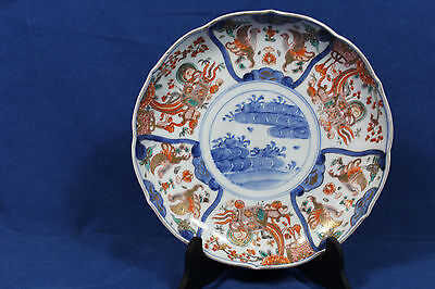 Antique Chinese imari porcelain plate - Qing dynasty - 18th century