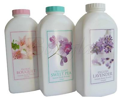 ENGLISH Familly Talc Bouquet Lavender Sweet Pea Perfume Talcum Made in UK