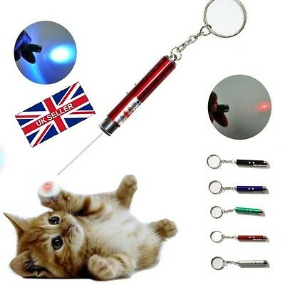 PACK OF TWO! Cat Dog Laser Pointer Interactive 2In1 Ideal Toy Pet Funny Play UK