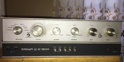 "Crown Ic-150A Pre-Amplifier ""for Parts Or Repair"""