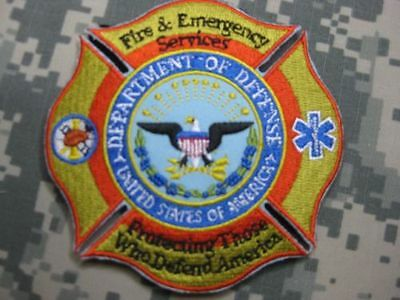 U.s. Fire Patch Patch Department Of Defense Fire & Emergency Services Mi