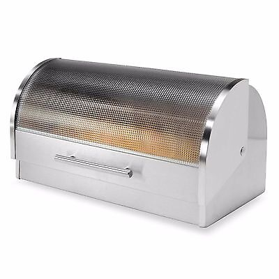 Oggi™ Stainless Steel Glass Roll Top Bread Box READ
