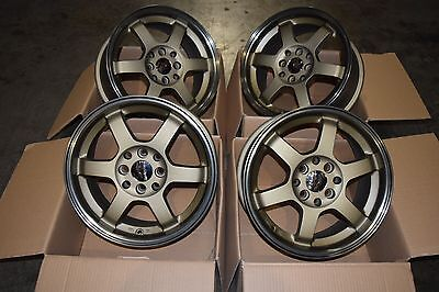 """Brand New 15"""" CWS Grid Style Alloy Wheels 4x100 4x114.3"""